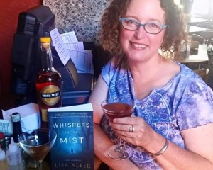 Sipping the novel's signature cocktail, The Misty Whisper. Secret ingredient? Irish Mist, but of course.